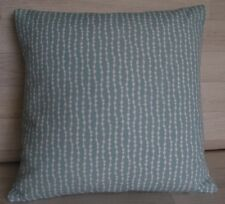 Handmade Cushion Cover -  Duck Egg Spot / Stripe - Same Fabric Both Sides