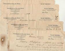 ADEN-YEMEN Rare 5 Letterheads Tobacco Trader & Agent Hodeida-Red Sea 1934