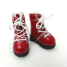 """16cm Lati Yellow Basic Bjd 12"""" Blythe Pullip Doll Shoes High Hill Boots RED"""