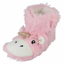 Spot On Ladies Unicorn Bootee Slippers *X2111*