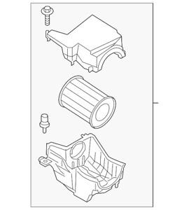 Genuine Ford Air Cleaner Assembly CV6Z-9600-G