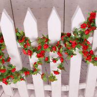 Neu Künstlich Blumen Efeugirlande Girlande Seidenblumen Kunstblumen . R3T4