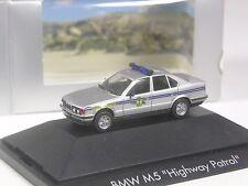 recht selten: Herpa Exclusiv BMW M5 Highway Patrol USA State Trooper in OVP