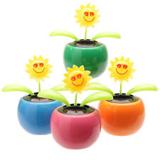 Solar Powered Dancing Flower Ornament Gift Plant Pot - Flip Flap Sunflower