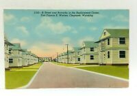 Cheyenne Wyoming Fort Francis E Warren Replacement Center Vintage Postcard