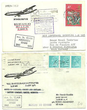 QEII GB 4D & Machin volo tedesca copre x2 Lerwick isole Shetland 1971 ritorno