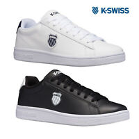 K-Swiss Classic Lace Up Court Shield Trainers Casual Leather Low Top Sneakers