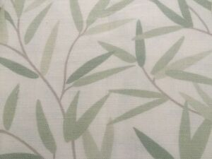 """LAURA ASHLEY WILLOW LEAF HEDGEROW 1pr Curtain TIE-Backs 26"""" Piped NEW"""