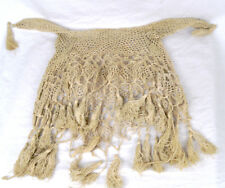 Antique Victorian Horse Fly Veil Crochet Tassel Hat Bonnet Circa Civil War 1860s