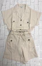 Shorts & Shirt Set Ladies Safari Style 2 piece Sizes 6 8 10 12 14 16 Brand New