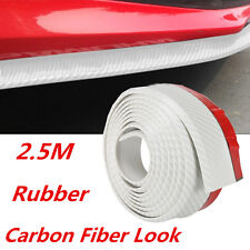 2.5M Car Carbon Fiber Look Front Bumper Spoiler Lip Anti Scratch Protector Skirt