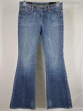 Citizens of Humanity medium wash flared leg denim blue jeans ladies juniors 29