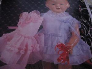 "17"" 18"" Effanbee Patsy Doll Ensemble Dress Camisole /Slip/Panties Pattern UNCUT"