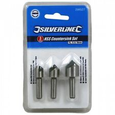 HSS Countersink Set 3pce 10, 12 & 16mm Drill Bit Metal + FREE POST