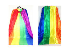 Long Rainbow Capes Flag Costume Coat Fancy Dress Up Party 12182