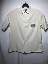Harley Davidson Chrome Sweet Chrome Barbed Wire Embroidered Shirt Large