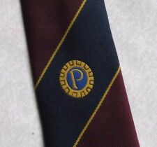 PROBUS INFORMATION CENTRE COMPANY LOGO TIE CLUB ASSOCIATION BURGUNDY NAVY 1990s