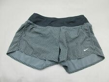 NIKE SIZE S WOMENS GRAY ATHLETIC DRI-FIT LINED SPORTSWEAR TRAINING SHORTS 953