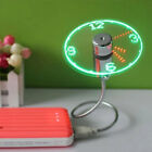 Mini Flexible Gooseneck LED Clock USB Fan For PC Notebook Time Display Cool OB