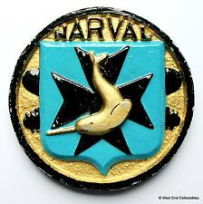 Narval Submarine - Old French Navy Ship Tampion Plaque Badge Crest