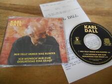 CD Comedy Karl Dall  - Mir fällt immer was runter (2 Song) MCD HANSA Presskit