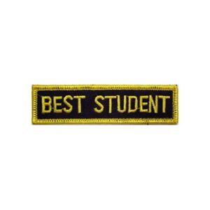 Martial Arts Embroidered Badges - Best Student Gi Patches Uniform Suit