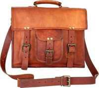 Retro Men's Real Leather Messenger Shoulder Bag Cross Body Satchel School bag
