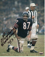 Ed O'Bradovich Chicago Bears Autographed 8x10 Football Photo With Inscription
