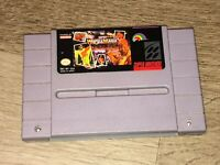WWF Super Wrestlemania Super Nintendo Snes Cleaned & Tested Authentic