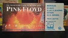 Pink Floyd concert ticket A Momentary Lapse of Reason 1988 Barcelona