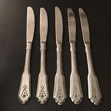 Stanley Roberts Rogers Norcrest Brentwood 5 Dinner Knives Stainless Flatware