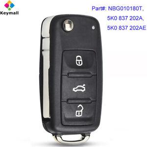 5K0837202AE Volkswagen VW Remote Flip UNCUT Key Fob OEM 2011 2012 2013 Tiguan