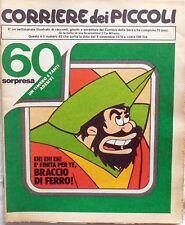 CORRIERE DEI PICCOLI N.45 1978 POSTER BRACCIO DI FERRO