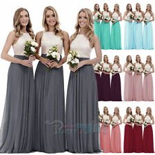d2c48551f3b New Long Chiffon Lace Evening Formal Party Ball Gown Prom Bridesmaid Dress  4~26