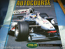 AUTOCOURSE 1998 1999 MICHAEL SCHUMACHER MIKA HAKKINEN RUBENS BARRICHELLO F1 GP
