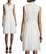 Diane von Furstenberg 'Nieves' A-Line Sleeveless Lace dress White $648 Sz 12 NWT