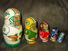 Nesting Dolls - NFL Modern Era Greatest QUARTERBACKS 5 pc Russian Marino Favre++