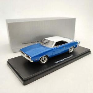 1:43 1969 DODGE CHARGER R/T SE - blue & white Resin Limited Models