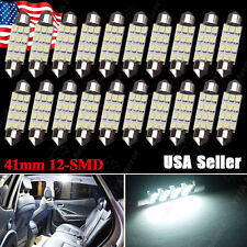 20PCS White 42MM 41MM Festoon Dome Map Interior LED Light bulb Lamp 211-2 212-2