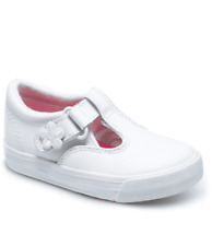Sneakers Keds Leather MaryJanes Daphne White NEW Little Girls Size 6 1/2 M