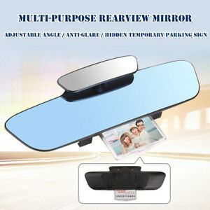Car 2.5D HD Rear View Mirror Adjustable Angle Anti-glare Temporary Parking Sign