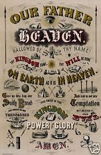 Lord's Prayer Our Father Digitally Remastered Antique Christian Artwork Print