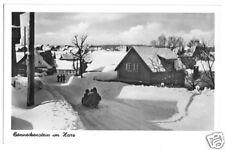 AK, Benneckenstein Harz, winterl. Straßenpartie, 1953
