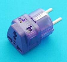 UK EU AUS US to Germany France Universal Travel Adaptor AC Power Plug Dual Ports
