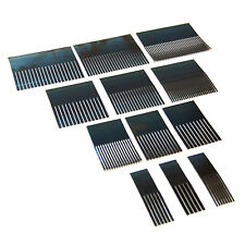 Blue Steel Graining Combs Set of 12 - For Decorative Plaster, Paint, Woodgrain