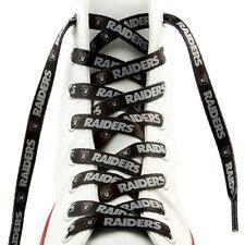 """Oakland Raiders Team Logo Colors BLACK 54"""" Shoe Laces One Pair Lace Ups NFL"""