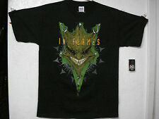 IN FLAMES.NEW.MED SHIRT.DEATH METAL.ABORTED.DECAPITATED.NAPALM DEATH