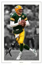 BRETT FAVRE GREEN BAY PACKERS FOOTBALL SIGNED PHOTO PRINT