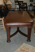 Ant Oak Office Library Desk Table. Med Stain Col, Mordace Tenons Base, 2 Dwrs