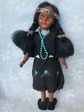 VINTAGE CARLSON DOLL AMERICAN INDIAN COLLECTOR DOLL WITH PAPOOSE